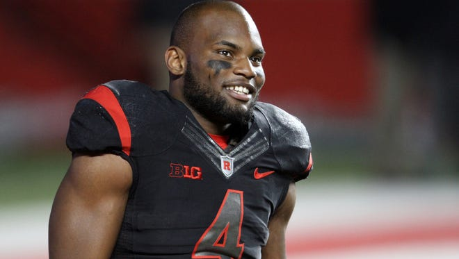 Rutgers football star Leonte Carroo was taken by the Miami Dolphins in the third round of the 2016 NFL Draft.
