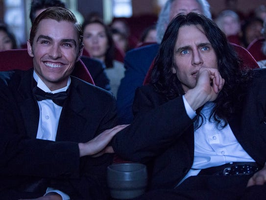 """Dave Franco (left) and James Franco in """"The Disaster"""