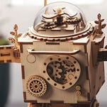 This adorable, tiny DIY robot is also a wind-up music box