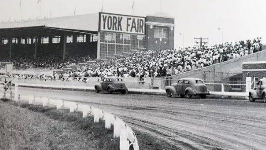 Racing at the York Fair in 1955.