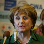 Rep. Louise Slaughter, D-N.Y., talks to reporters on Capitol Hill in Washington on Jan. 11, 2016