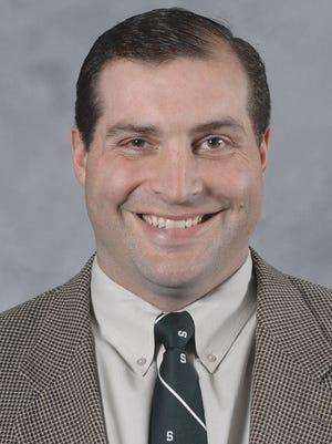 Michigan State offensive line coach Mark Staten