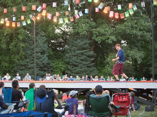 "Delaware Shakespeare performed ""The Comedy of Errors"" in 2016 at Rockwood Park."