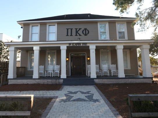 Pi Kappa Phi fraternity house on College Avenue. Pi