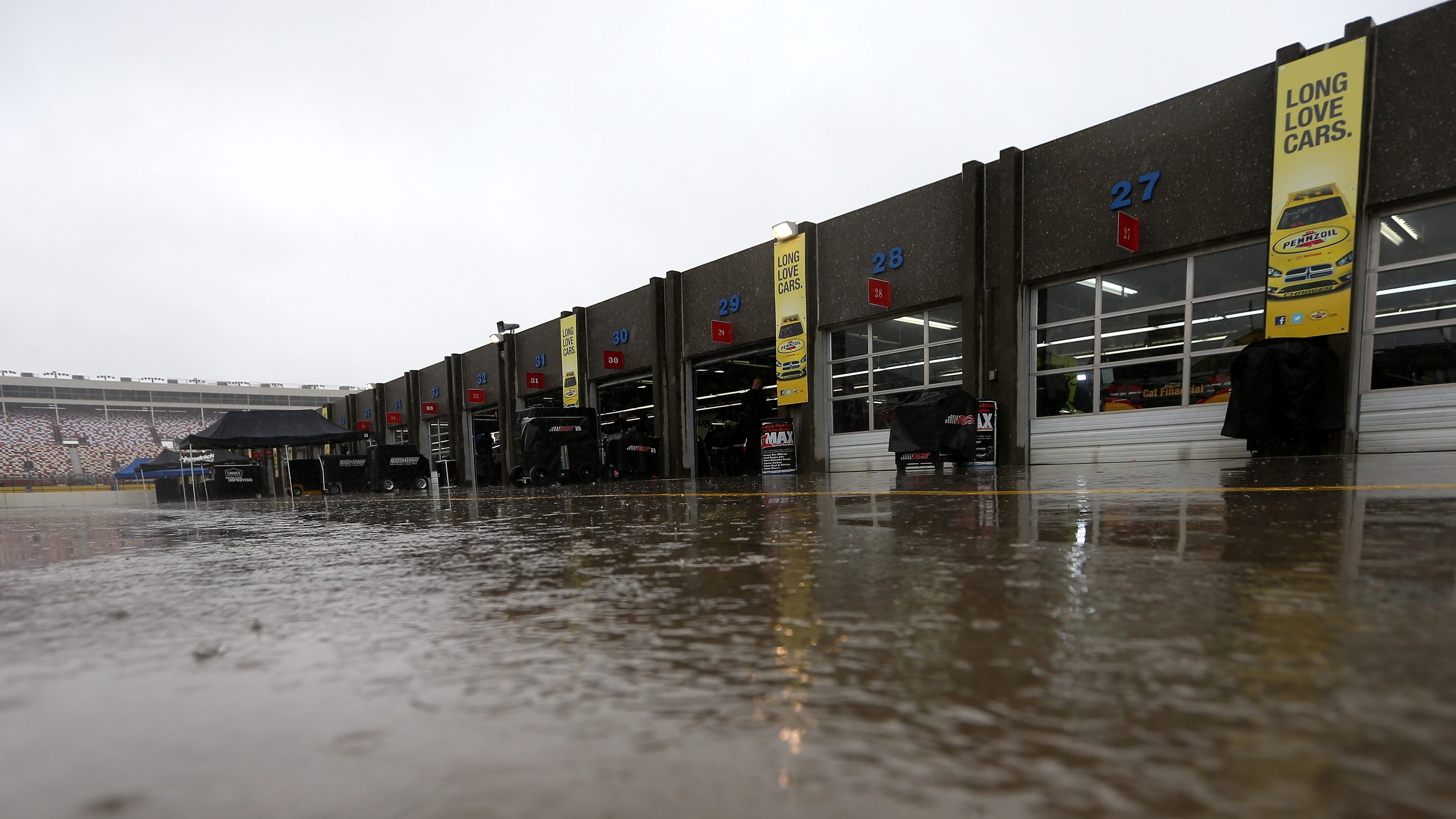Rain washes out first day of charlotte testing for Charlotte motor speedway zip code