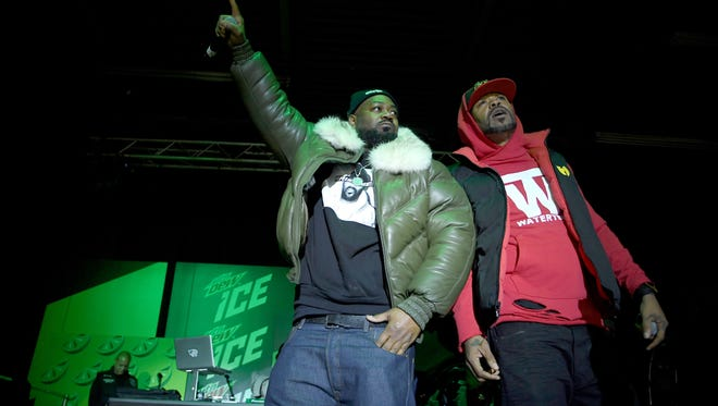 Ghostface Killah and Method Man of Wu-Tang Clan perform onstage at the Mtn Dew ICE launch event on January 18, 2018 in Brooklyn, New York.  (Photo by Dimitrios Kambouris/Getty Images for Mountain Dew)