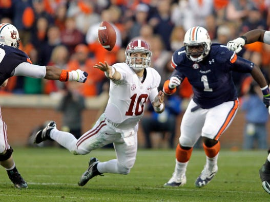 No. 5 Auburn 34, No. 1 Alabama 28 *Upset