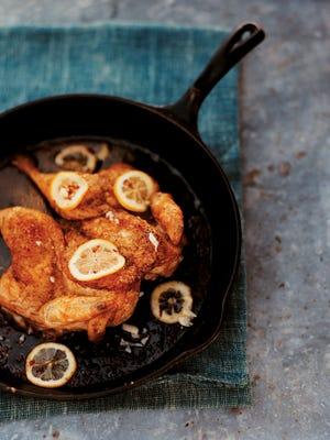 Flat Roast Chicken cooks quickly.