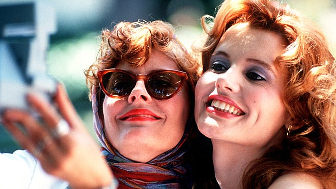Susan Sarandon, left, and Geena Davis in a scene from the motion picture 'Thelma & Louise.'