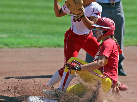 Agatha Beier of Carlisle slides into second as Caitlynee