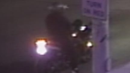 Dearborn police seek suspect in jewelry store robbery fleeing on a motorcycle.