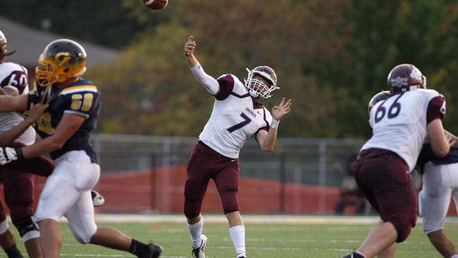 Jason Pridgeon (7) and Okemos remain in the playoff picture heading into the season's final week.
