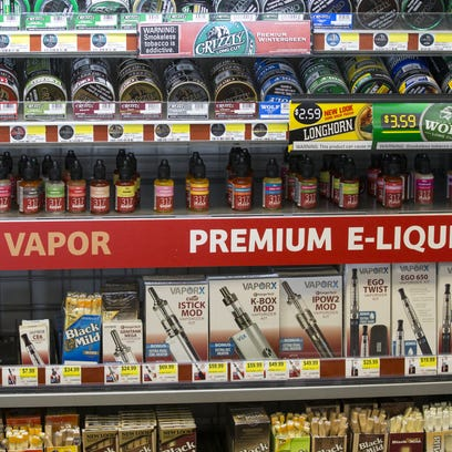 Oils used in vaping devices, along with smokeless tobacco
