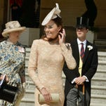 Duchess Kate celebrates Prince Philip's 93rd birthday at Buckingham Palace garden party on June 10.