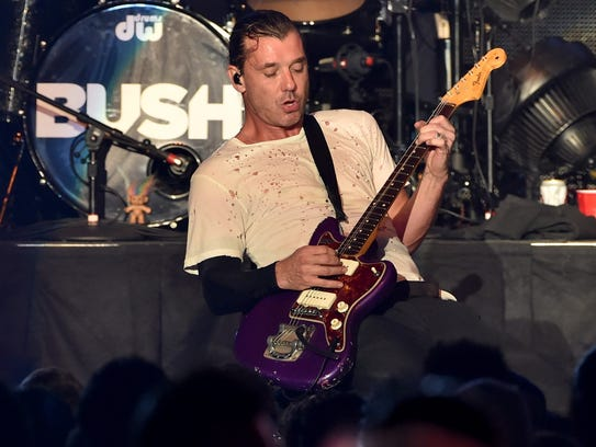 Musician Gavin Rossdale performs onstage during day