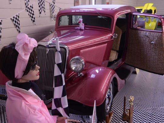 "Jack Chamberlain's ""Pink Lady"" is a 1934 Ford Tudor Sedan."