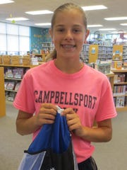 Andrea Yahr, an avid reader, won a prize as part of