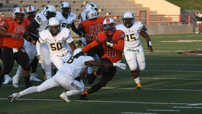 Mansfield Senior's Jornell Manns made his first varsity start at running back on Friday when the Tygers hosted Northland.