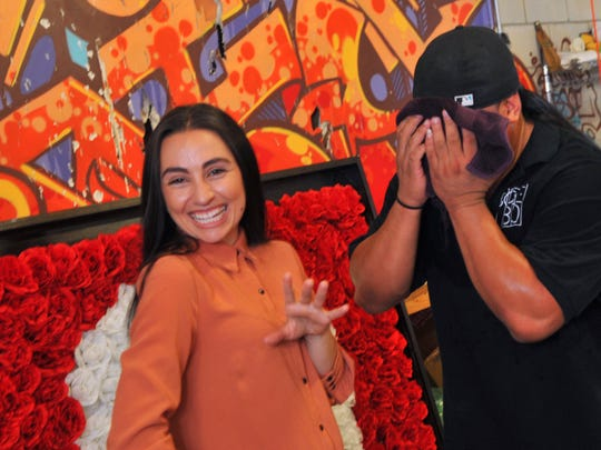 "They have bend dating since 2012.Angela Roman, a singer and musician, and Nestor ""Buyett"" Funelas, pose after an interview at the warehouse of artist Christopher Maslow. Nestor is a break dancer , or B-Boy, and started Sole180, an urban live show production company, and they will present Sole Summit 2016, a hip hop dance convention in Melbourne from August 19-21."