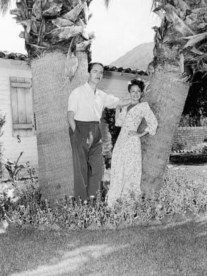 William and Mousie Powell in front of their home in Las Palmas c. 1940.