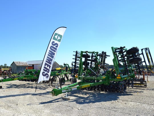 The Haar brothers are dealers for the Summers line of new farming equipment, and they also sell used equipment at their farm near the corner of Ohio 20 and Ohio 51.