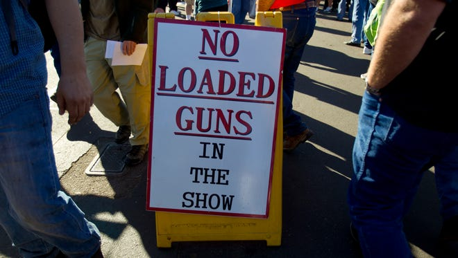 Wait...it's a GUN SHOW and I can't bring in a loaded gun?