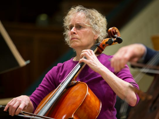 A cellist with the RPO plays during the OrKIDStra Concert