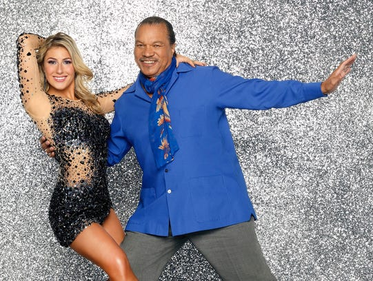 "DANCING WITH THE STARS - BILLY DEE WILLIAMS & EMMA SLATER - Legendary leading man, Billy Dee Williams partners with Emma Slater. This season's dynamic lineup of stars will perform for the first time on live national television with their professional partners during the two-hour season premiere of ""Dancing with the Stars,"" MONDAY, MARCH 17 (8:00-10:01 p.m., ET) on the ABC Television Network.  (ABC/Craig Sjodin)  [Via MerlinFTP Drop]"
