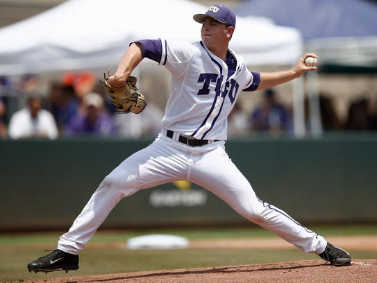 TCU pitcher Tyler Alexander was taken with 65th pick