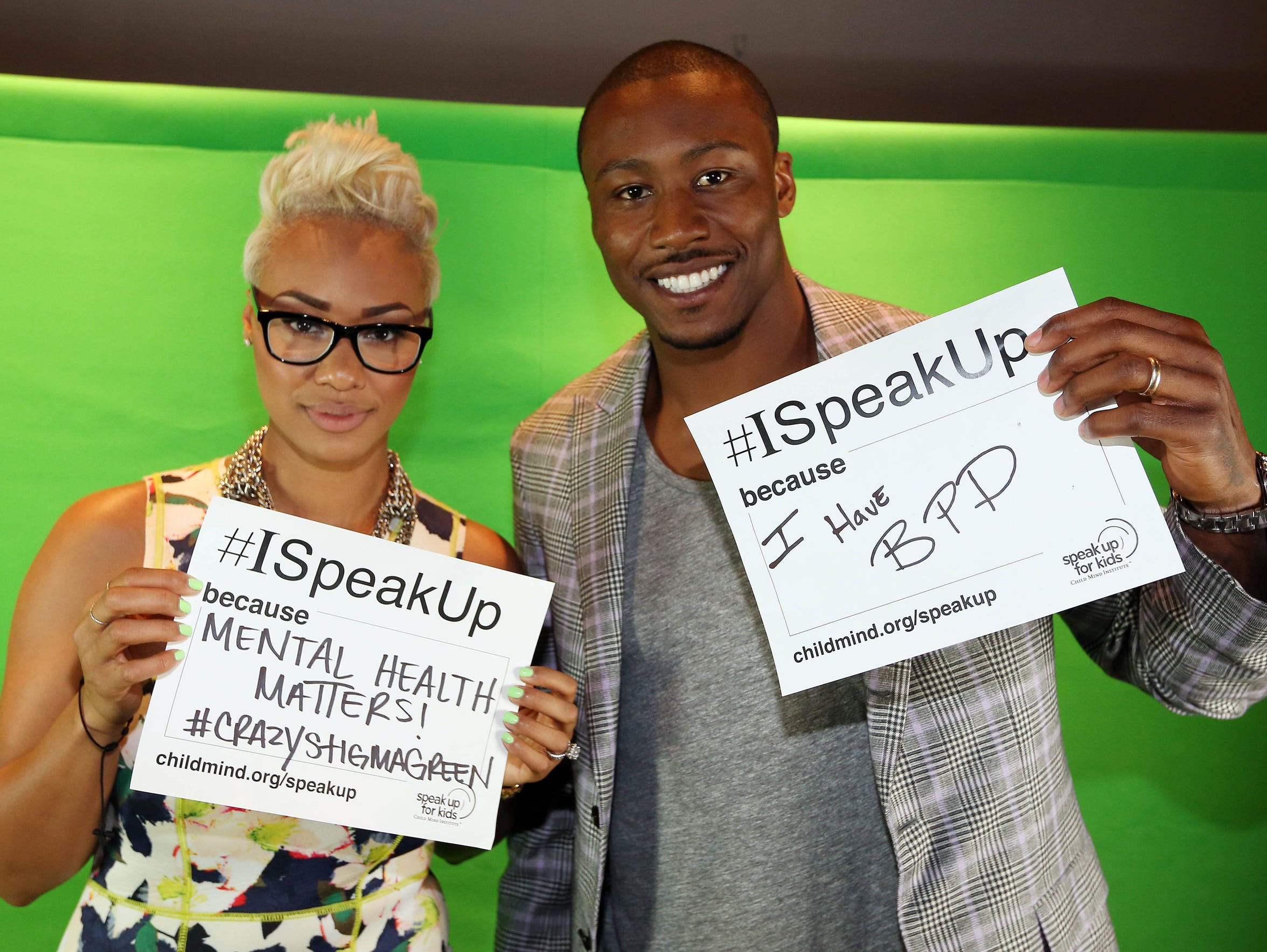 Brandon Marshall, shown here at a mental health event