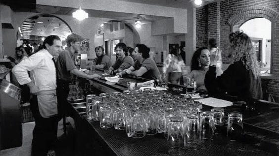 People gather in CooperSmith's Pub & Brewing in 1989, the year Fort Collins' first brewpub opened.
