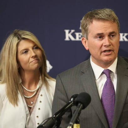 Kentucky Commissioner of Agriculture James Comer stands