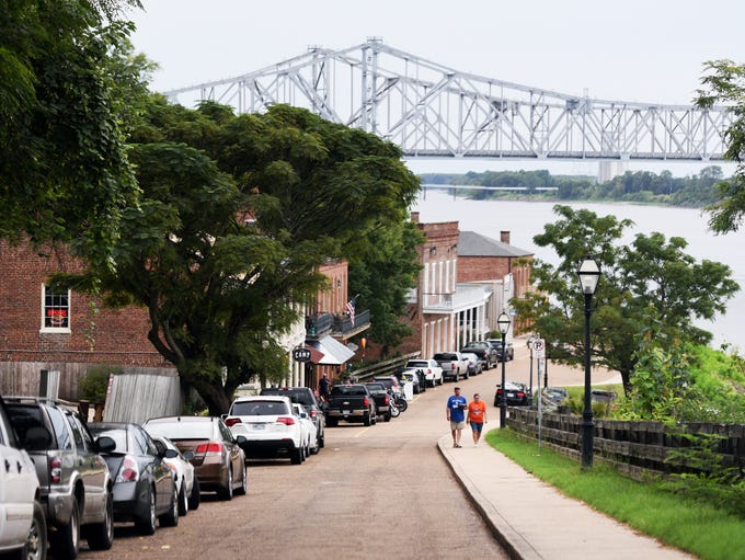 The Under-the-Hill Historic District in Natchez, Mississippi,