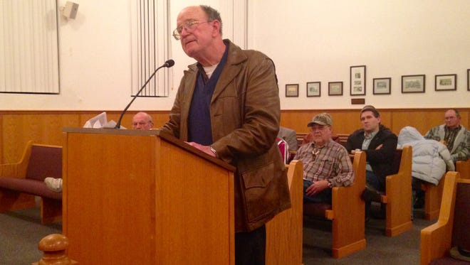 "Terry Poynter, a local attorney, called the concealed carry ordinance ""an atrocity"" during a  Baxter County Quorum Court meeting Tuesday, Jan. 5, 2016."