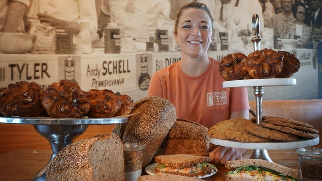 Sarah Williams, head baker of Seven Stars Bakery,  has come up with a new chocolate chip cookie made with white whole wheat flour and a new spelt pan bread. Also on the menu is a new White Bean Vegan Sandwich. Kouign Amann is now made every day, not once a week.