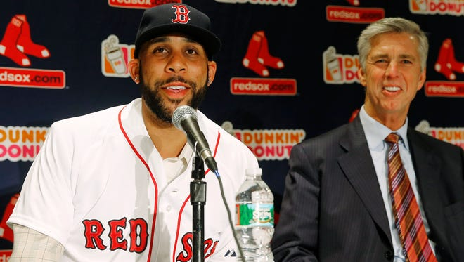David Price, left, was the top target of new Red Sox boss Dave Dombrowski.