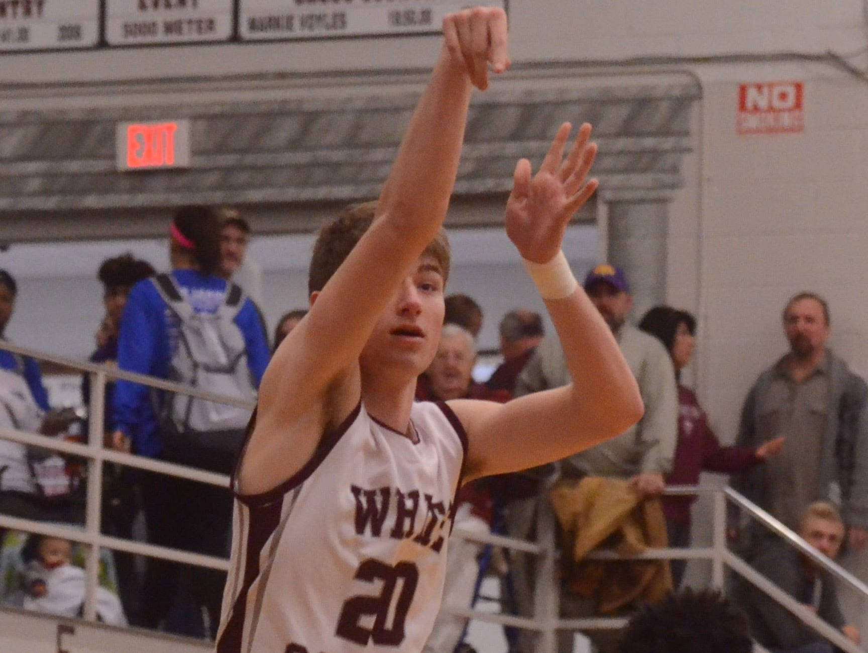 White County's Pierce Whited, who is averaging a team-leading 20 points per game, has knocked down over 100 3-pointers on the season.
