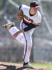 Jackson Liberty vs Jackson Memorial baseball. Memorial's starting pitcher Ryder Tallent. Jackson, NJSaturday, April 8, 2017@dhoodhood