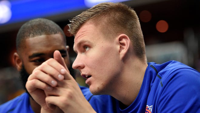 New York Knicks forward Kristaps Porzingis.