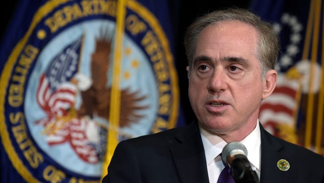 Veterans Affairs Secretary David Shulkin makes an announcement at the Department of Veterans Affairs in Washington, Monday, June 5, 2017. Shulkin announced plans to revamp the department's information technology system.