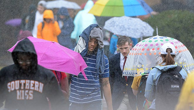 Keep your umbrella handy Thursday. The Pine Belt could see 2-4 inches of rain, according to the National Weather Service.