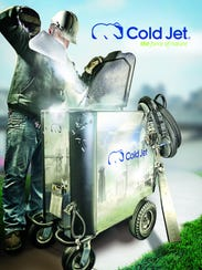 This image features one of Cold Jet's dry ice cleaning