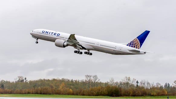This image provided by United shows the carrier's first