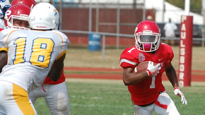 A junior running back, Dehron Holloway leads the Red Raiders in rushing and touchdowns. He scored four times in last week's victory over Haddon Township.