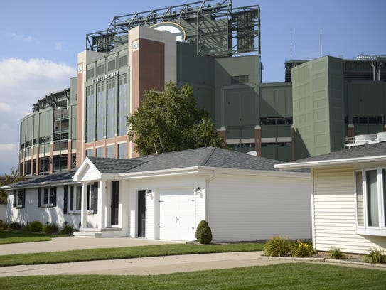Houses on Stadium Drive in Ashwaubenon have a good view of Lambeau Field in addition to being adjacent to Packers property. That increases the value of that property.