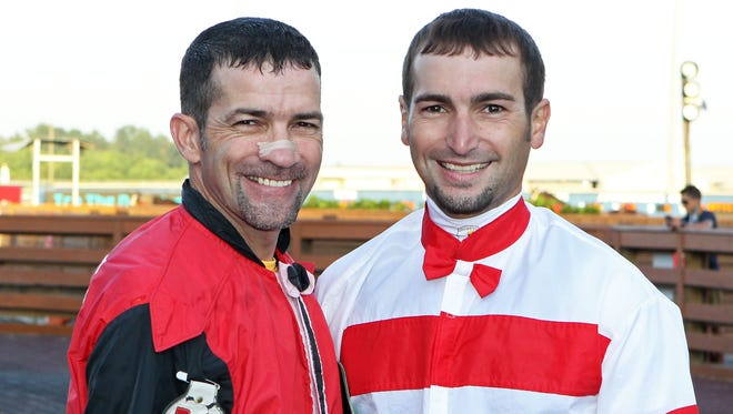 Gerard Melancon and son Jansen Melancon are two of many talented jockeys returning to Evangeline Downs this Thoroughbred season, which opens Wednesday.