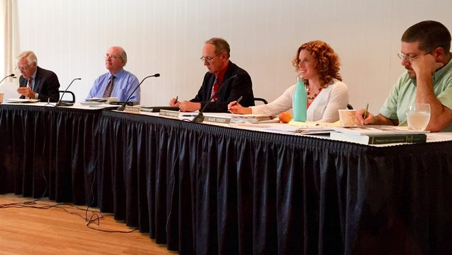 The Vermont State Board of Education meets in Barre on Aug. 18, 2015.