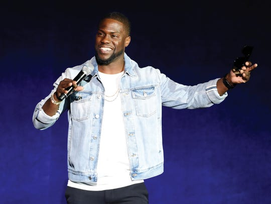 Kevin Hart addresses the audience during the Universal
