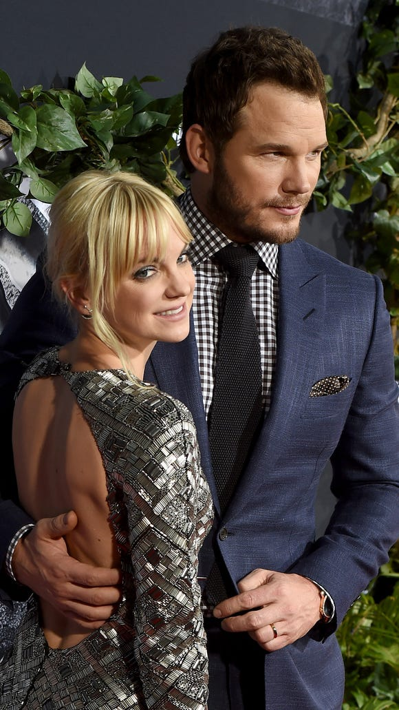 Anna Faris and her adorable husband Chris Pratt, you