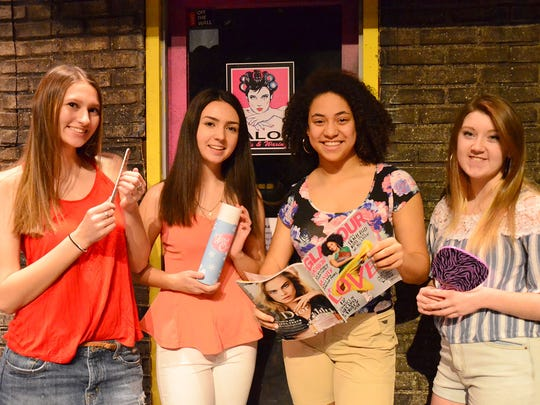 Cast members of Wheatland-Chili High School's Drama Club's production of In the Heights include, from left, Jenna LaMere, Olivia Murray, Ryley St.Rose-Finear and Mady Ziefel.